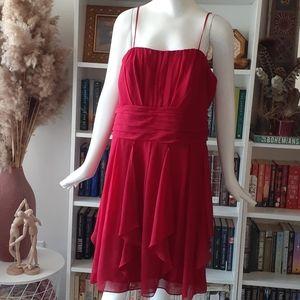 David's Bridal braidsmeid red dress